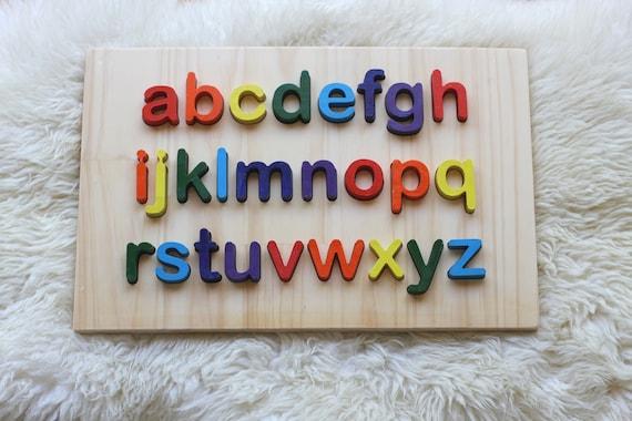 Kinder Lernen 26 Holz-Buchstaben- Perlen von A bis Z im Set zum Basteln Kita
