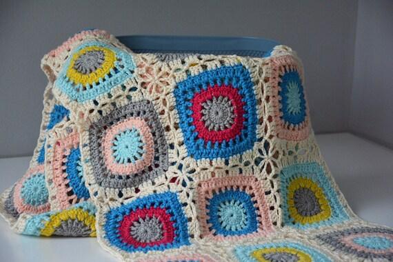 Crochet Blanket Granny Square Blanket Crochet Afghan Blanket Etsy