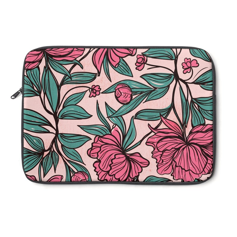 e9ae9fc5b0b7 Pink Blooms Laptop Sleeve   Device Cases   Laptop Accessories   Floral  Laptop Sleeve 13 inch   Flower Macbook Sleeve   Botanical   Nature