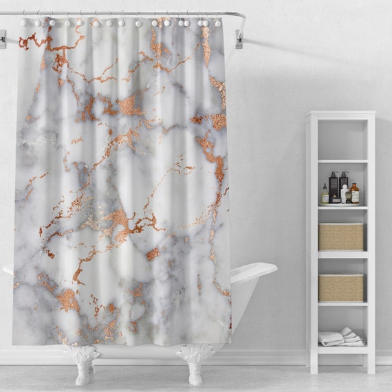 Marble Shower Curtain or Bath Mat