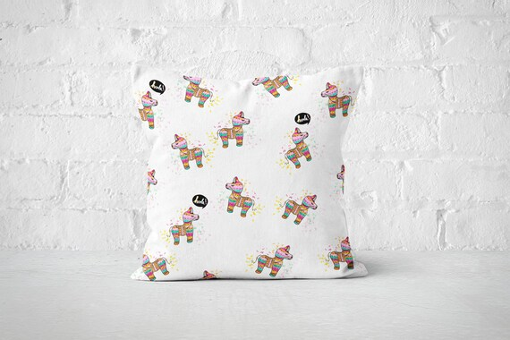 Hola Pillow Cases Hola Throw Pillow Covers Cute Accent Etsy Magnificent Cute Decorative Pillows For Cheap
