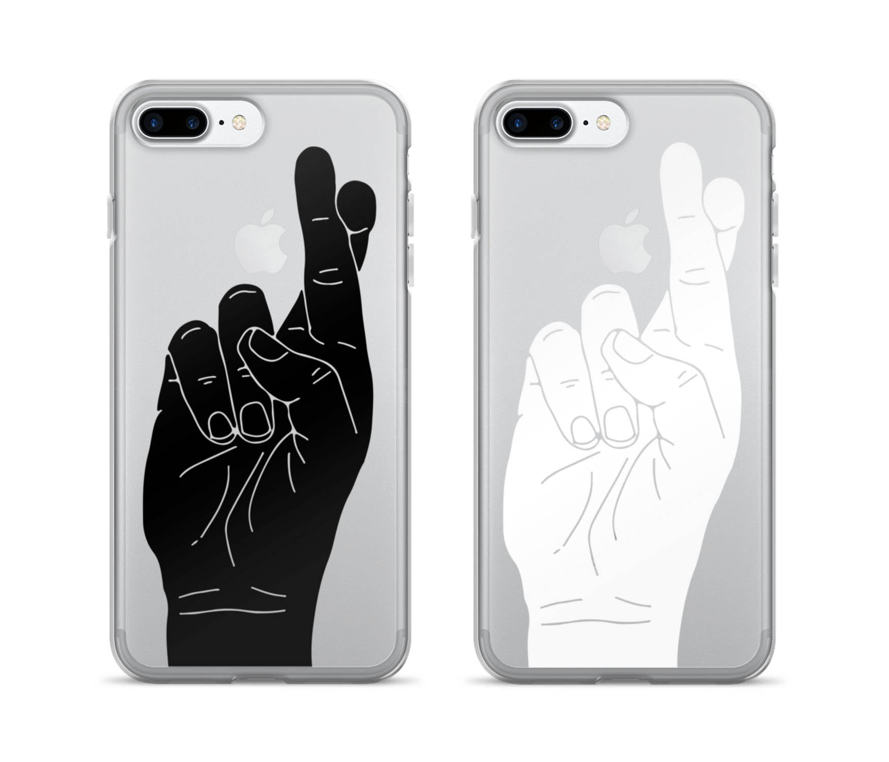 Fingers Crossed Iphone Case Cool Phone Case Clear Iphone Etsy