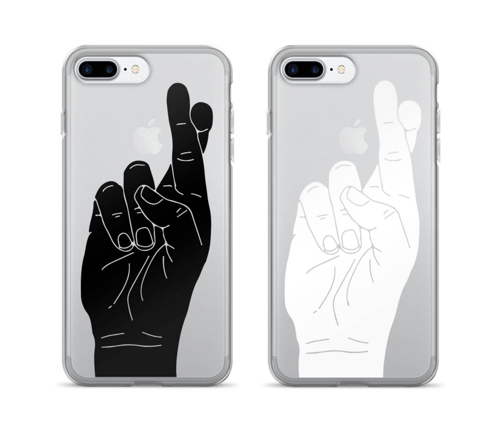 the best attitude 88d1a 8ddc9 Fingers Crossed | iPhone Case | Cool Phone Case | Clear iPhone Case |  Minimalist | Hand Gestures | Funny | iPhone 7 | iPhone 6 Plus Cases