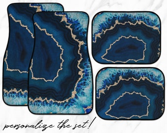 Geode Car Mats | custom personalization available and choose your own set!