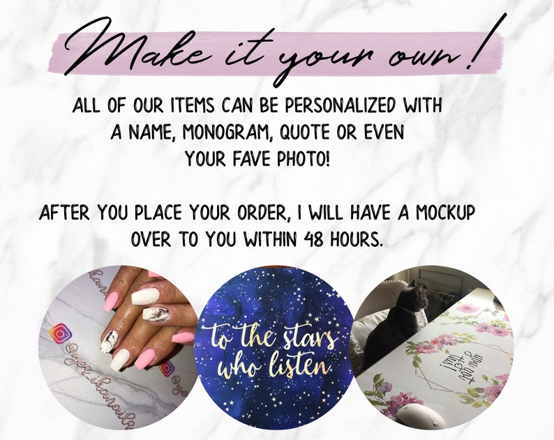 custom personalization available! Mouse Pad or Keyboard Wrist Rest multiple sizes /& styles Daisy Desk Mat