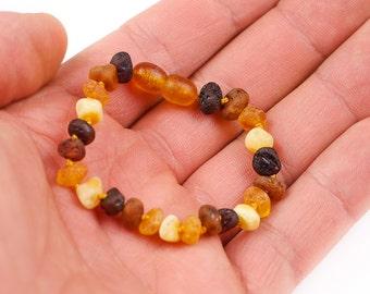 Natural Baltic Amber POLISHED OVAL Beads Baby Teething Adult Bracelet Anklet Safe KNOTTED 11-25cm Girl Boy Gift Men Women Lemon Cognac