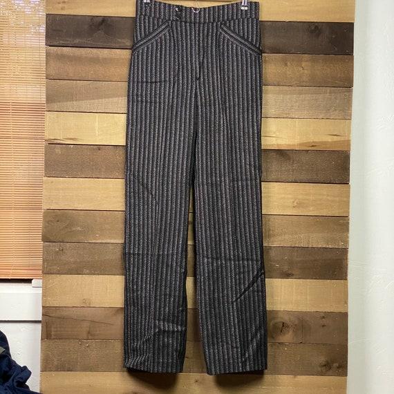 Vintage 70s Pleated Men's Pin-stripe Pleated Dress
