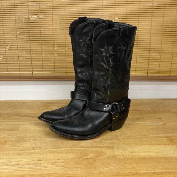 Golden Goose Women's Black Leather Cowboy Boots |