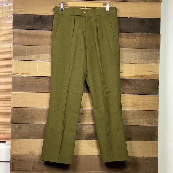 Vintage Army Men's Green Uniform Wool Pants   Vint