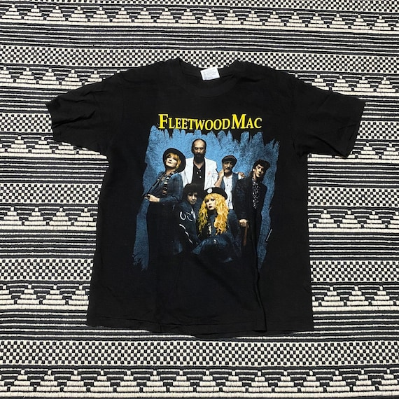 Fleetwood Mac 90s Vintage Band Concert Tour Black