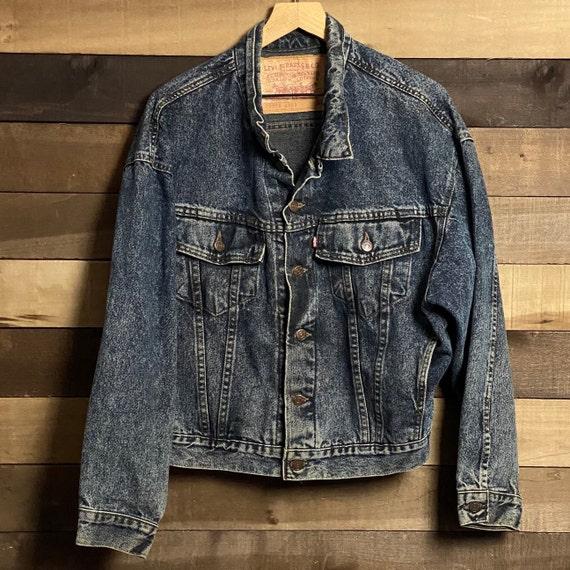 Vintage Levi's Acid Washed Men's Jean Jacket | Aci