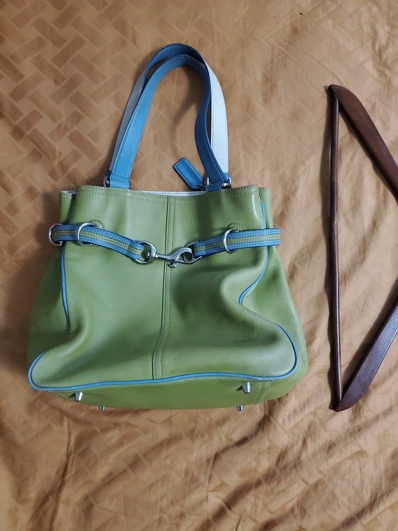 Lime Green Coach Shoulder Bag