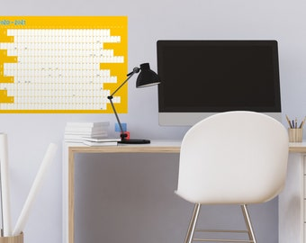 2020 - 2021 Academic School Student Wall Calendar Year Planner / Family School Student Work