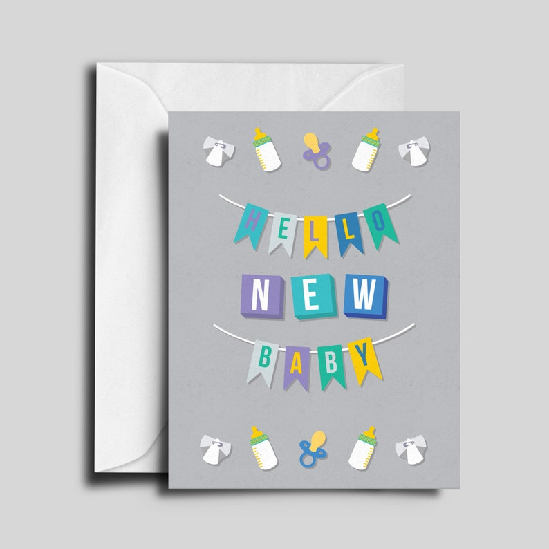 Hello New Baby Greeting Card image 0