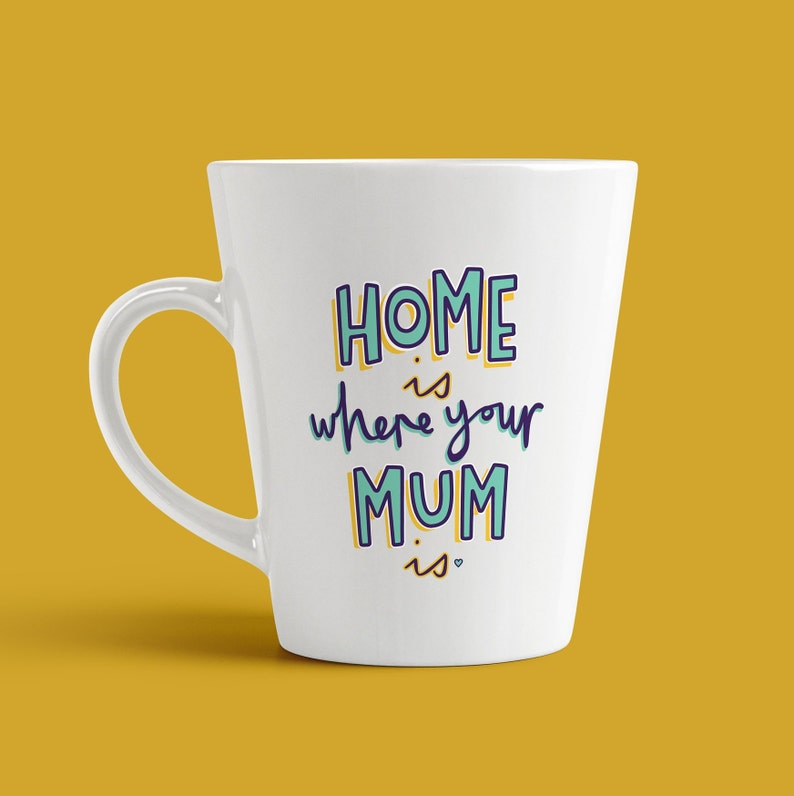 Home Is Where Your Mum Is  Mother's Day Mug birthday image 0
