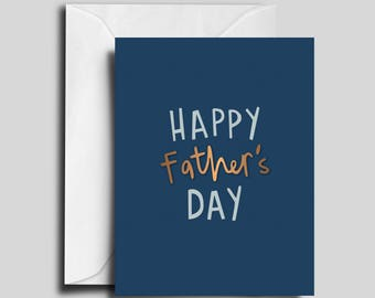 Happy Father's Day! Blue & Copper Greeting Card