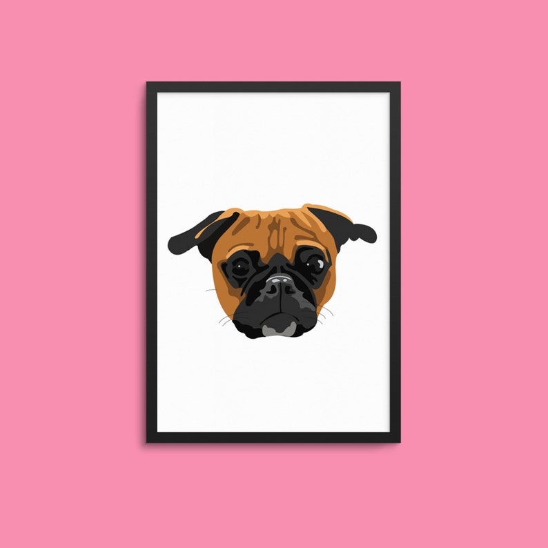 Custom Pet Illustration / Digital Pet Portrait / Custom Pet image 0