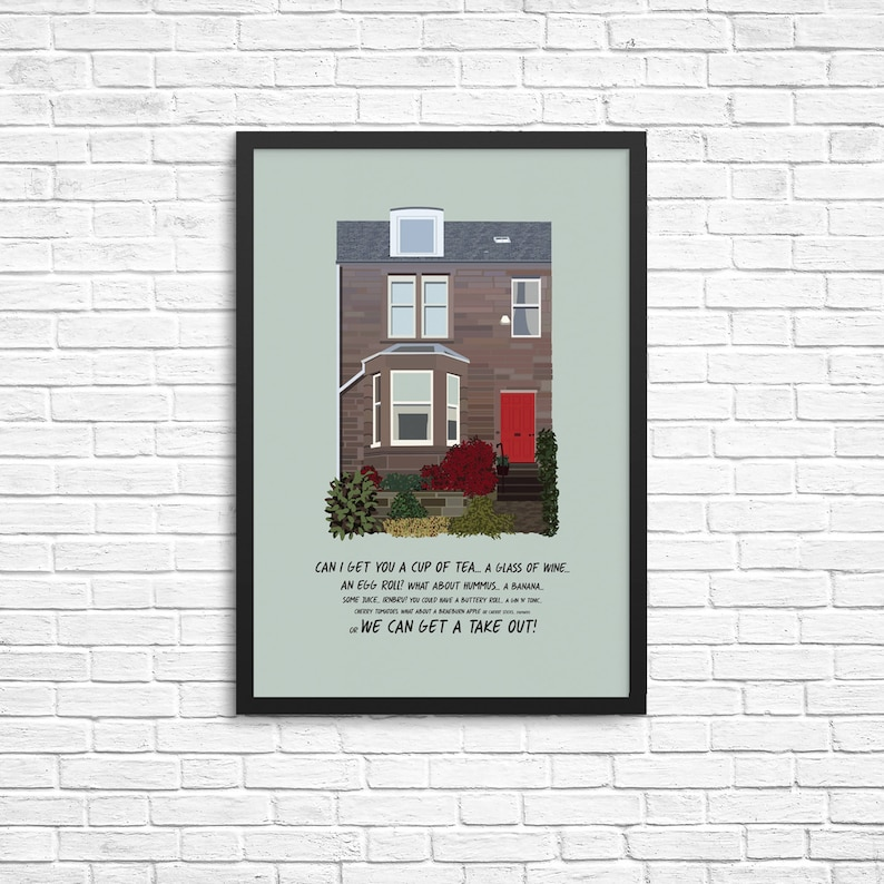 Personalised House Illustration / Home Print image 0