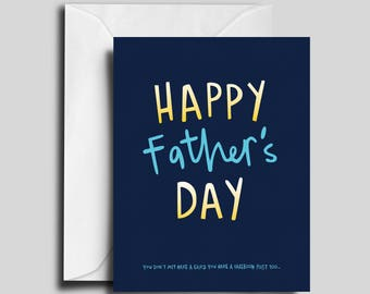 Happy Father's Day! Blue & Yellow Greeting Card