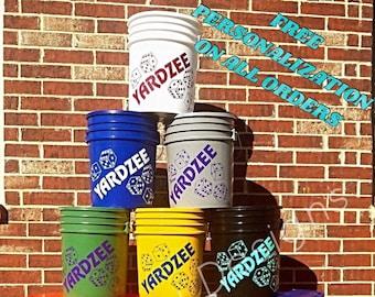 BUCKET ONLY!!!  Yardzee Farkle Combo Bucket ONLY / Yardzee Yard Game / Yahtzee/ Farkle