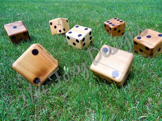 Discount Character Dice Wooden Yard Dice Large Lawn Dice