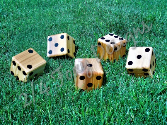 Wooden Yard Dice Large Lawn Dice