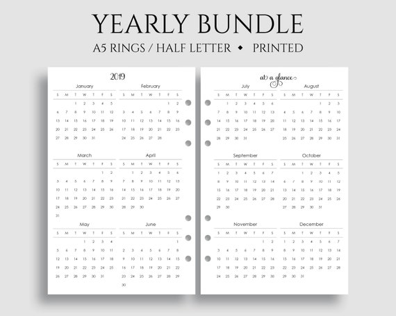 yearly calendar at a glance