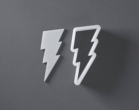 3D Printed Plastic Flash Lightning Bolt Cookie Cutter Choice of Sizes