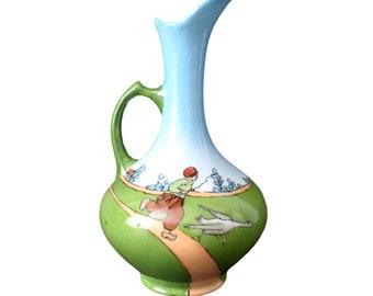 Vintage French Pitcher Porcelain  Limoges