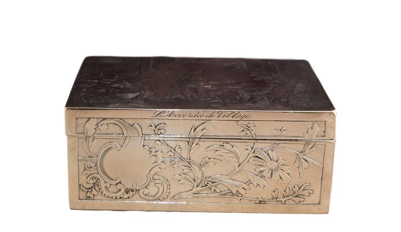 French Wine Chest Crate Collection Here Vintage Antiqued Wooden Box