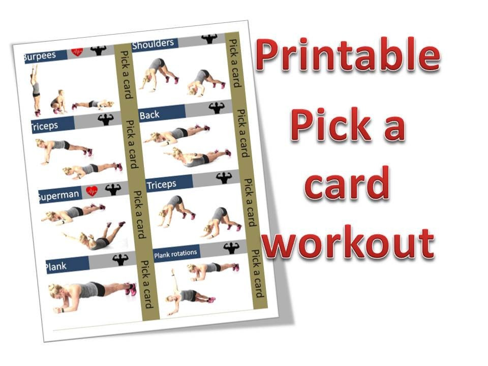 Printable Workout Cards A4 Size Total Of 28 Exercise Cards Etsy