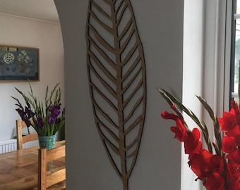 Leaf wall decoration - wooden leaf - large wooden leaf - wall hanging