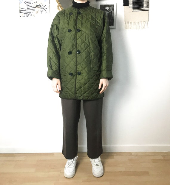 Army cold weather quilted liner / Button up diamon