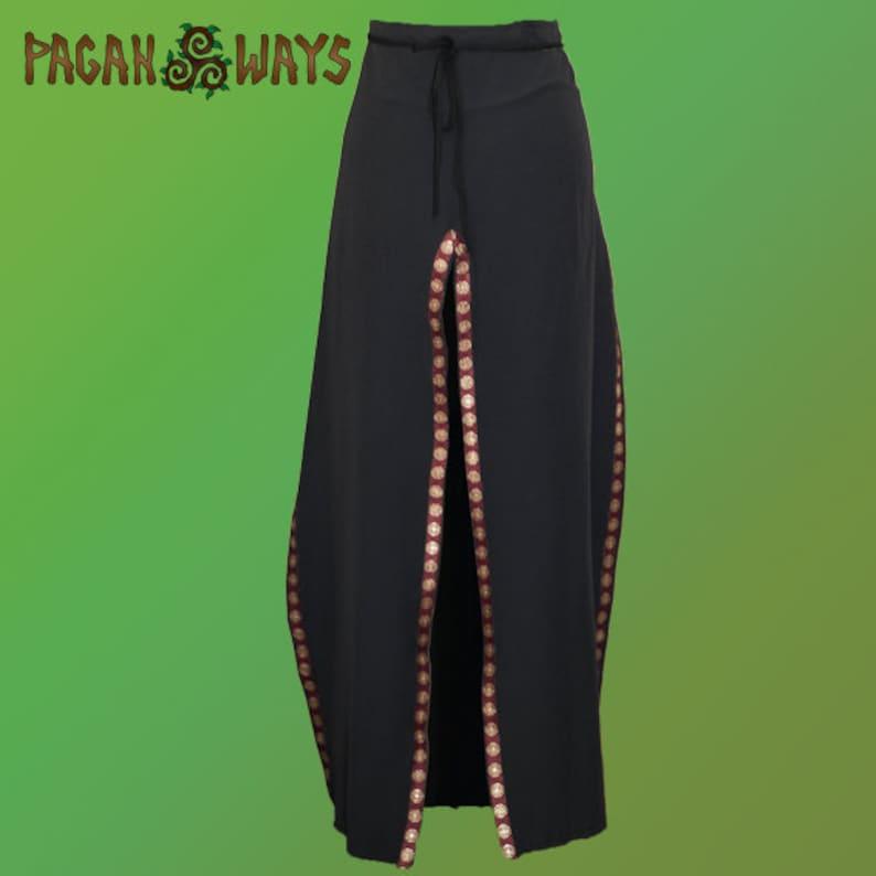 Black unisex skirt with Cathar Occitan Cross ribbon  image 1