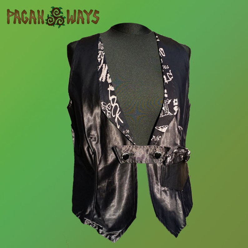 Pirate gilet  black gilet with skulls  pirate clothes image 0