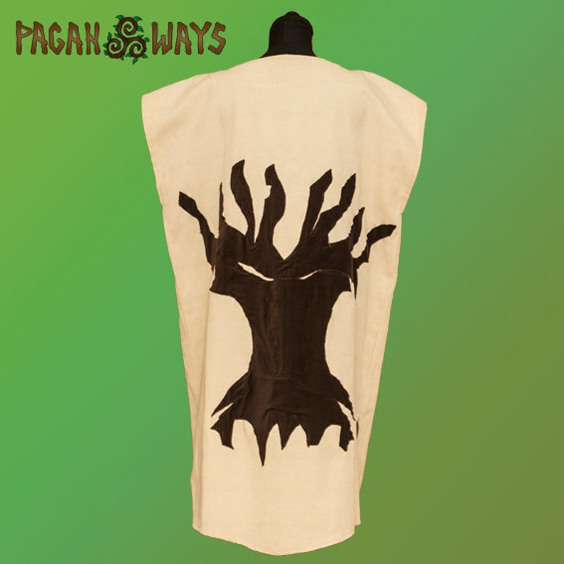 Vest with tree of life and roots  Celtic Viking pagan fantasy image 0