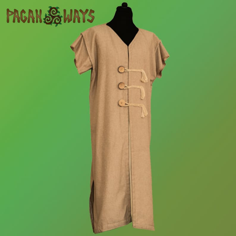 Long medieval tunic of raw cotton  fantasy clothing living image 0