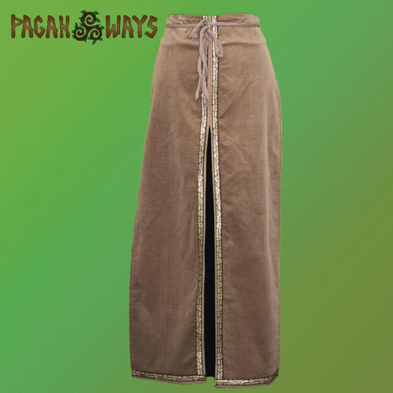 Pagan fantasy unisex skirt  steampunk punk bohemian hippie image 0