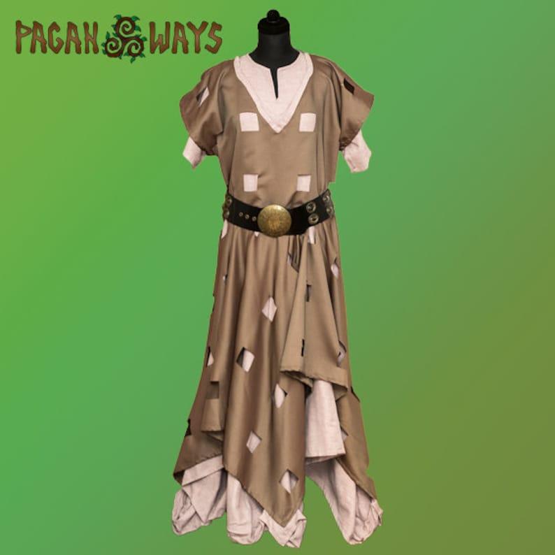 Steampunk fantasy dress  unique raw cotton dieselpunk image 1