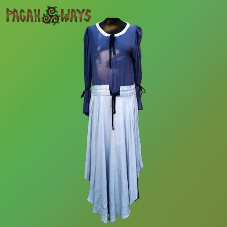 Medieval dress  blue dress  Celtic dress renaissance dress image 0