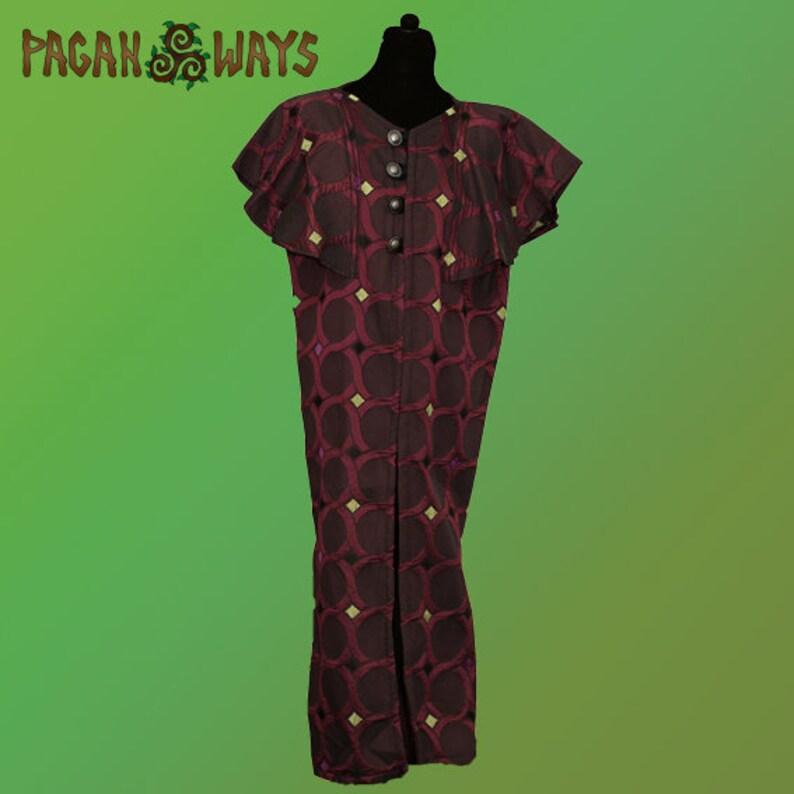Fantasy tunic of unique brocade fabric  fantasy clothing image 0