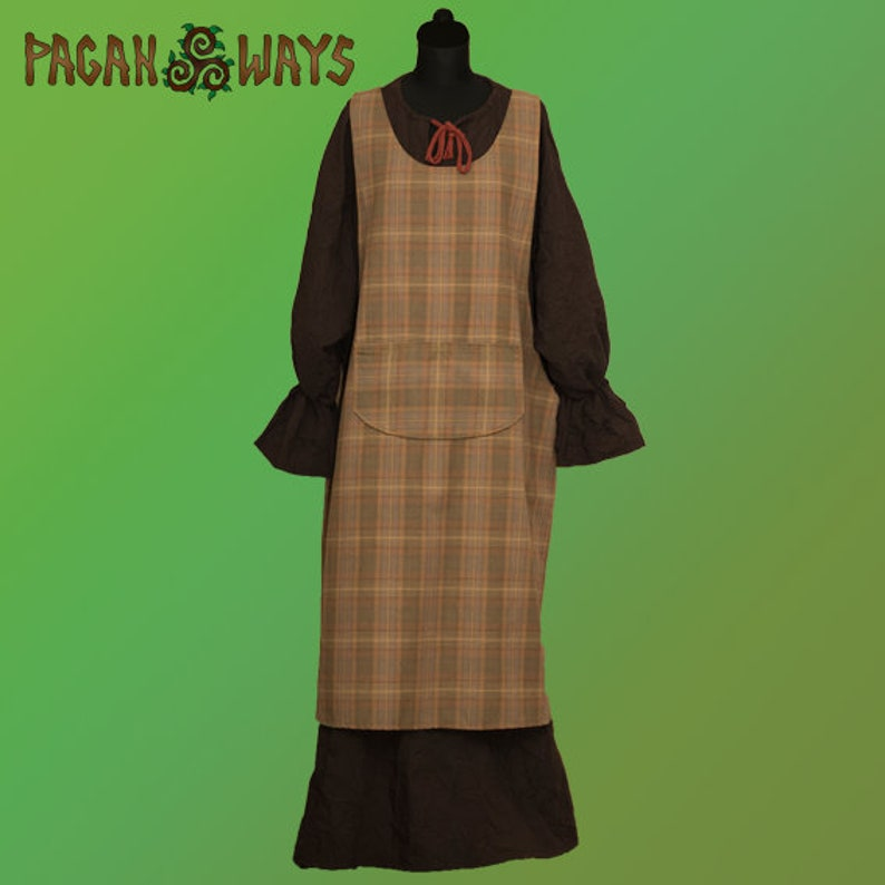 Medieval tartan dress  scottish dress celtic dress fantasy image 0
