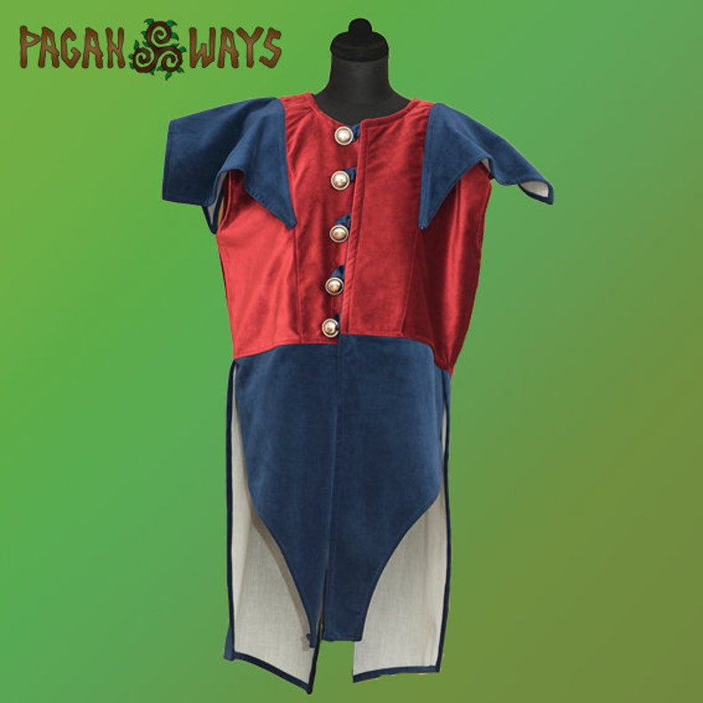 Medieval velvet knight tunic  King Arthur knights of the image 0