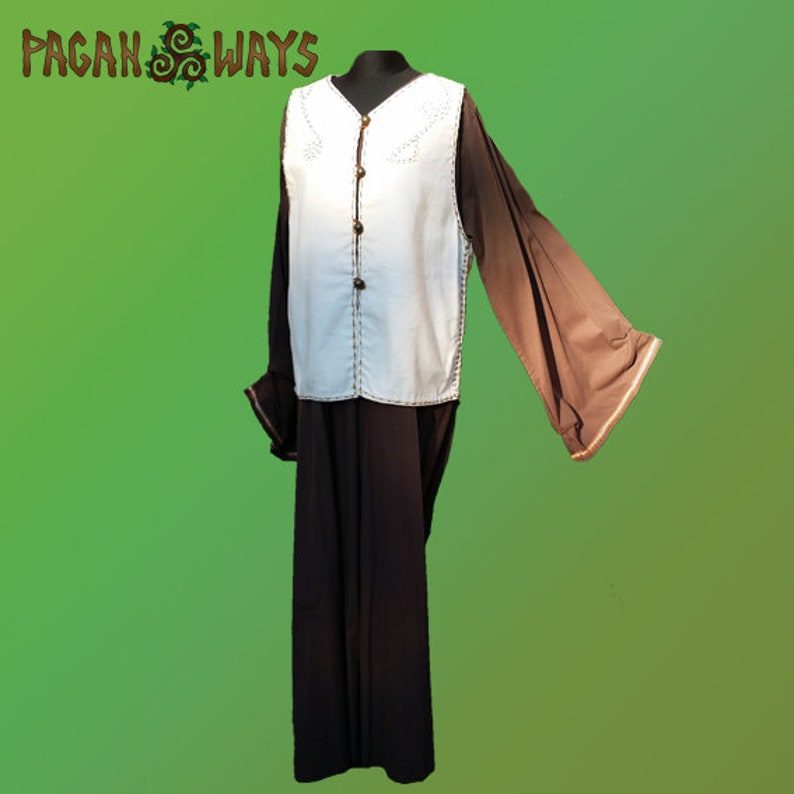Complete outfit  unique white music inspired jacket with image 0