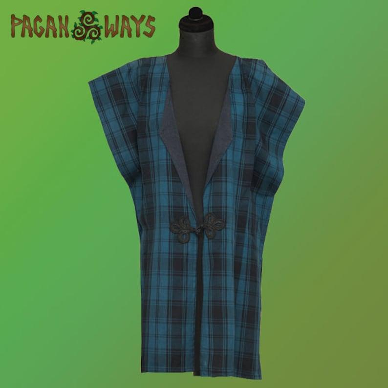 Scottish tartan tunic  Celtic pagan fantasy reenactment image 0