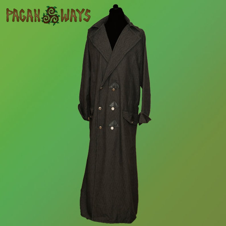 Steampunk coat with leather  dieselpunk punk fantasy larp image 0