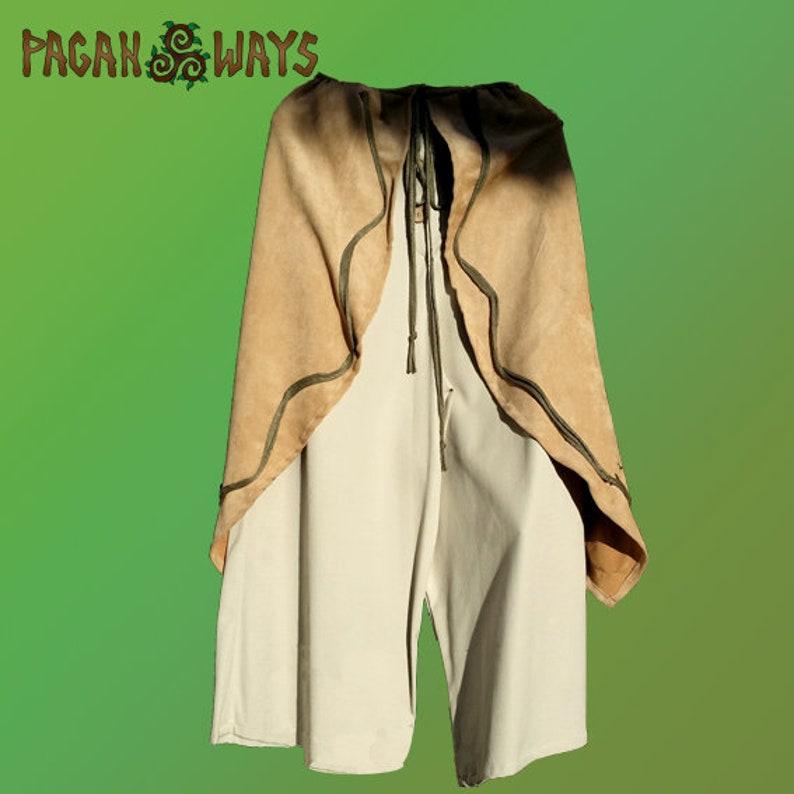 Baggy pagan pants  light brown trousers  alternative image 0