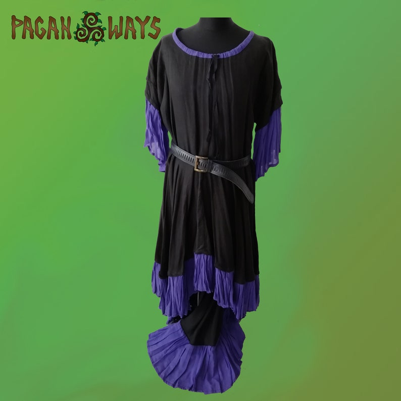 Beautiful black and purple gothic fantasy dress  industrial image 0