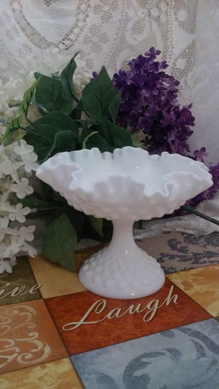 Wedding Decor FENTONSALE White Hobnail Milk GlassSoft