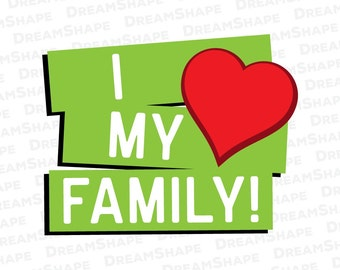 Love Family Svg Files Love Family Quotes Cut File Love Svg Etsy